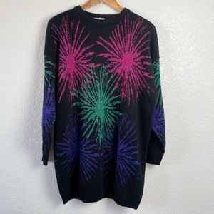 VTG Distinctly Different Sweater Tunic Fireworks
